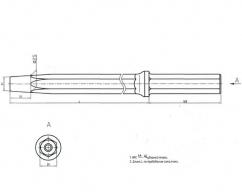 Штанга буровая перфораторная ШБ 25 25х108-К7 L 1600 ст 28ХГН3МА