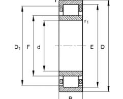 Подшипник NU313-E-M1 (FAG) заводская упаковка