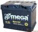 Аккумулятор автомобильный 6СТ-55 АЗ a mega Batteries Special