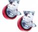 Колеса поворотные c боковым тормозом (полиуретан) ф 150 мм